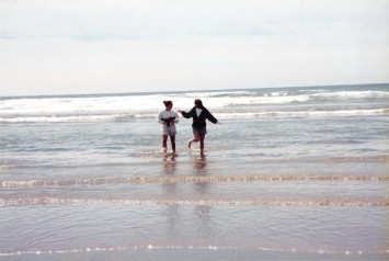 Beach wading in Cannon Beach, OR