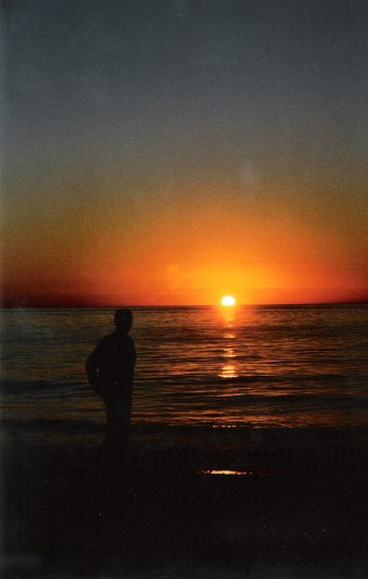 That's me a long time ago catching the sunset.